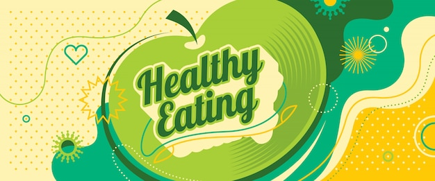 Design di banner di mangiare sano