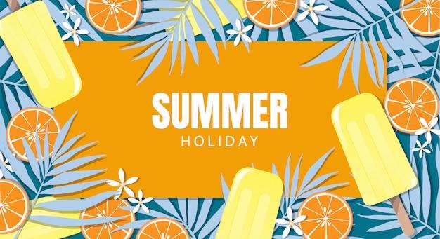 Design di banner di vacanze estive.