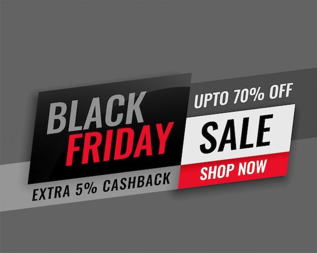 Design di banner di vendita venerdì nero moderno