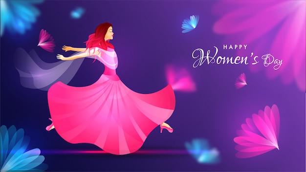 Design di banner festa della donna felice