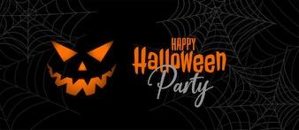 Design di banner festa di halloween spaventoso