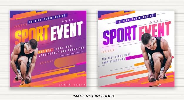 Design di banner per eventi sportivi