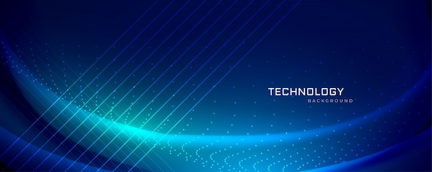 Design di banner tecnologia con effetti di luce
