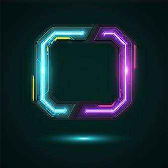 Design di banner tecnologia quadrata