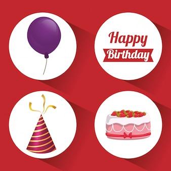 Design di buon compleanno