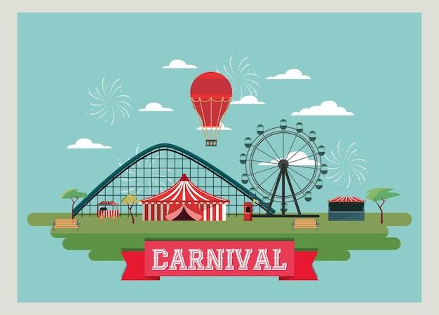 Design di carnevale di circo