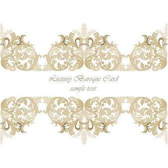 Design di carta barocco di lusso