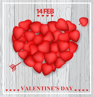 Design di carta di san valentino