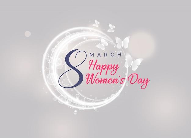 Design di carta felice giorno delle donne con farfalla volante