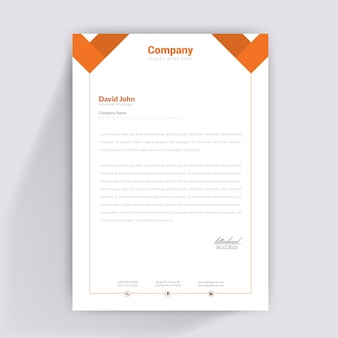 Design di carta intestata arancione