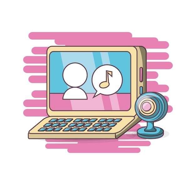 Design di chat webcam del computer