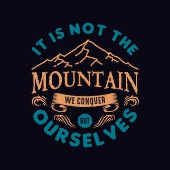 Design di citazioni di montagna