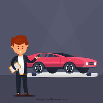 Design di commesso di auto comiche