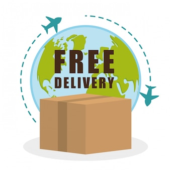 Design di consegna gratuito.