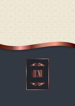Design di copertina del menu di lusso