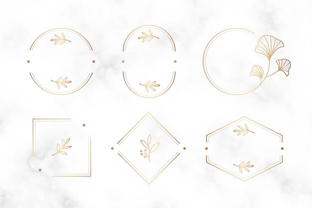 Design di cornici botaniche minimali