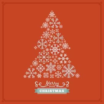 Design di decorazione natalizia a forma di abete