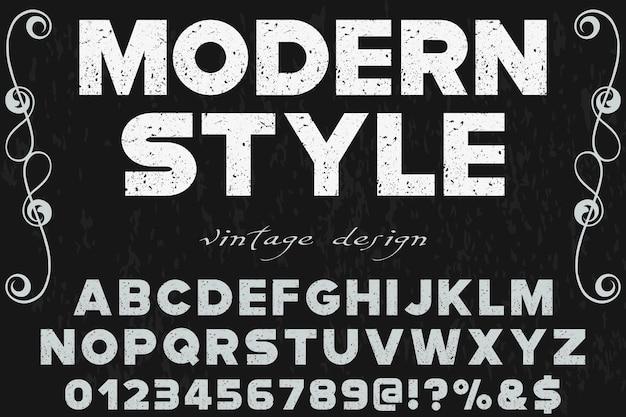 Design di etichetta di alfabeto moderno