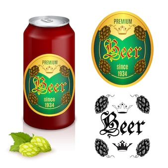Design di etichette di birra premium