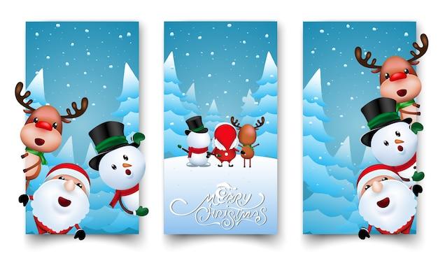 Design di etichette natalizie