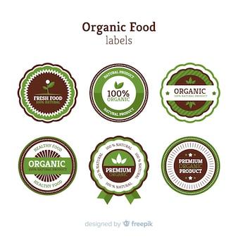 Design di etichette per alimenti biologici, vegetali, ecologici e naturali