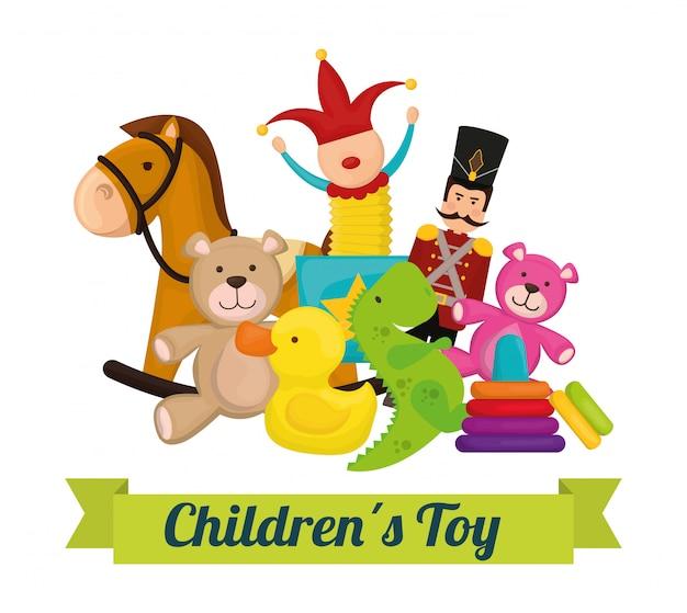 Design di giocattoli per bambini.