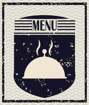 Design di icone di menu e ristorante