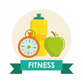 Design di icone di palestra e fitness