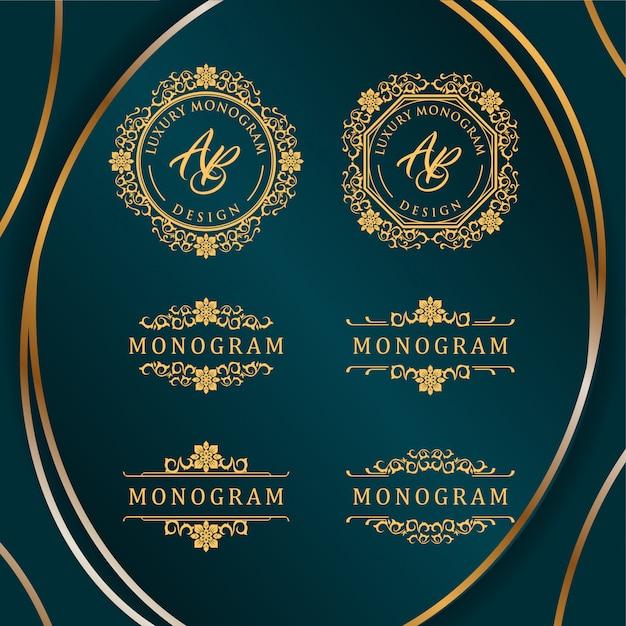 Design di lusso con elegante sfondo blu scuro
