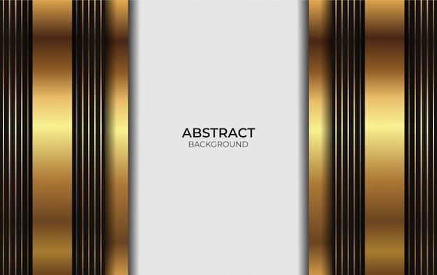 Design di lusso in oro e sfondo nero