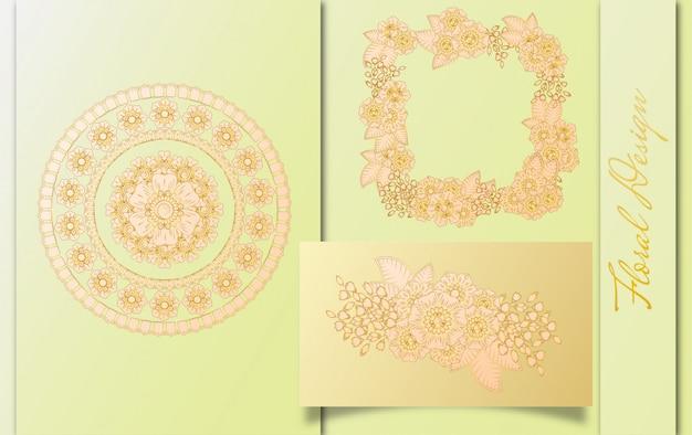 Design di lusso per biglietti da visita con disegno floreale