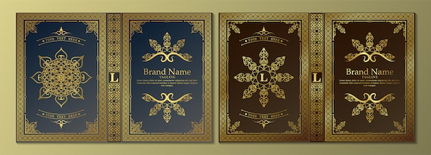 Design di lusso per la copertina del libro ornamentale