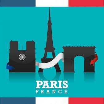 Design di monumenti di parigi