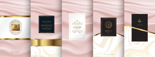 Design di packaging in oro con logo di lusso