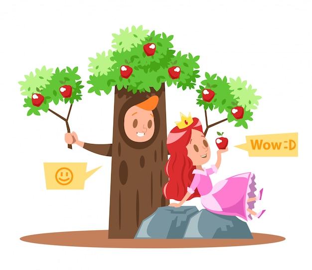 Design di piccole principesse e meli