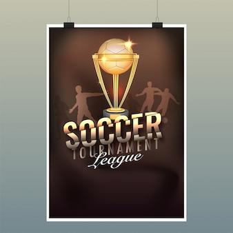 Design di poster di soccer tournament league
