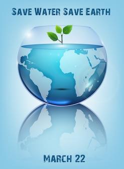 Design di poster giornata mondiale dell'acqua