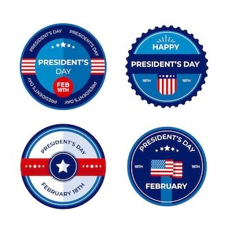 Design di president day per la collezione di etichette