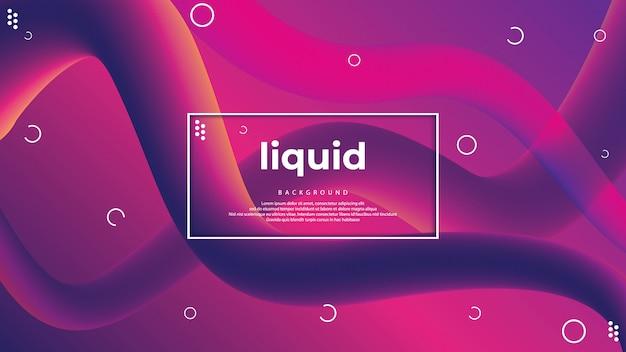 Design di sfondo a colori liquidi