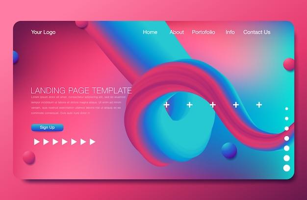 Design di sfondo asbtract. modello di pagina di destinazione