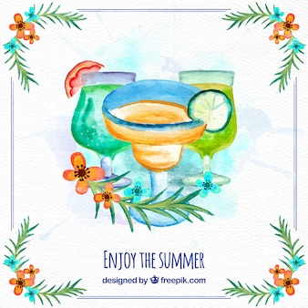 Design di sfondo cocktail