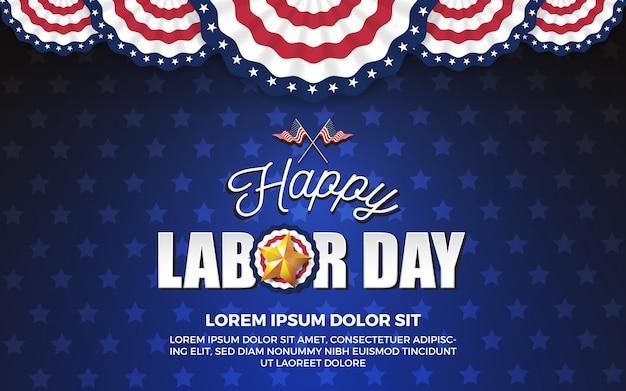 Design di sfondo festa del lavoro felice. illustrazione vettoriale