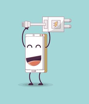Design di smartphone dei cartoni animati