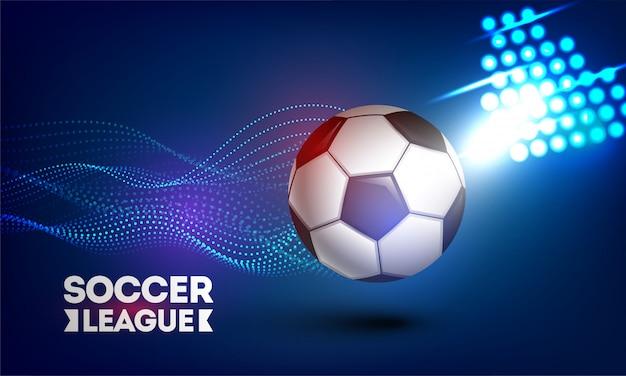 Design di soccer league con il calcio
