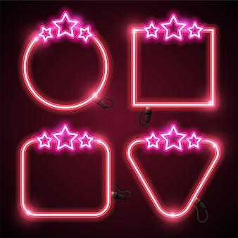 Design di stelle e neon banner