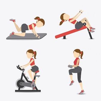 Design di stile di vita fitness.