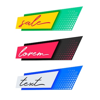 Design di striscioni di tendenza alla moda