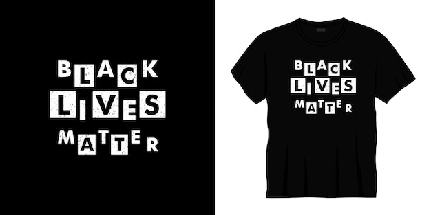 Design di t-shirt tipografia vita nera materia