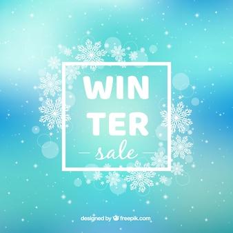Design di vendita invernale lucido