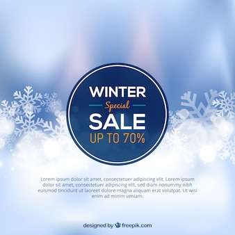 Design di vendita invernale sfocato